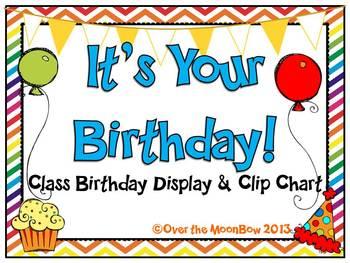 It's Your Birthday! Display & Clip Chart – Multi-Pattern Rainbow