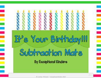 It's Your Birthday! Subtraction Mats