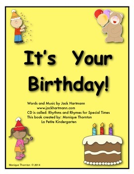 It's Your Birthday by Jack Hartmann (Song Book)