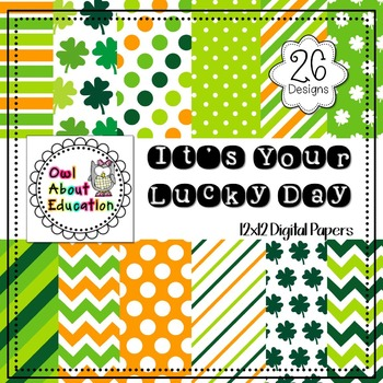 It's Your lucky Day - Digital Paper Pack