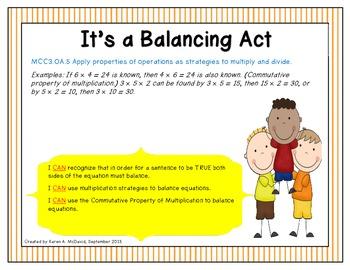 It's a Balancing Act - Balancing Equations (Common Core)