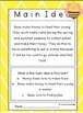 It's a Bee's World: Finding the main idea activities and worksheets.