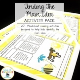 It's a Bee's World: Finding the main idea activities and w