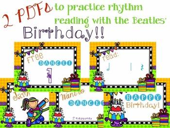 It's a Birthday Rhythm Celebration!!!  {half note version}