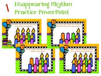 It's a Birthday Rhythm Celebration!!!  {quarter rest version}
