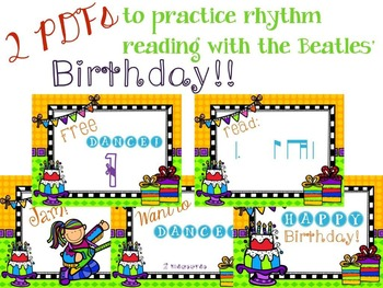 It's a Birthday Rhythm Celebration!!!  {tam-ti version}