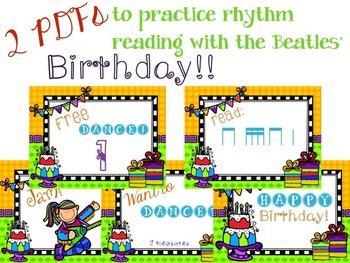It's a Birthday Rhythm Celebration!!!  {tika-tika version}
