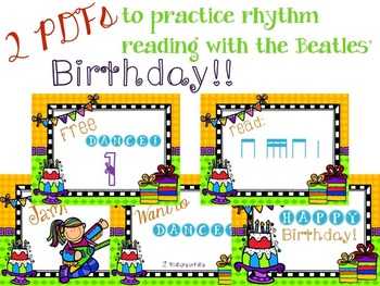It's a Birthday Rhythm Celebration!!!  {tika-tika version}