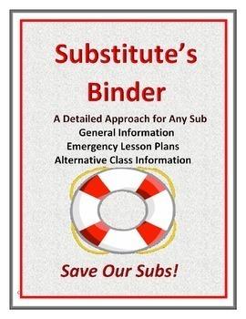 Substitute's and Parental Communication Documentation Binders Double Bundle
