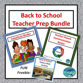 Substitute's and Teacher's Binders Double Bundle