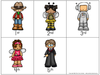 Ordinal Numbers 1st-10th {costume themed}