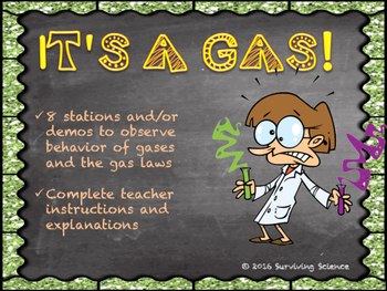 Its a Gas Lab Activity: Kinetic Molecular Theory and Gas Laws
