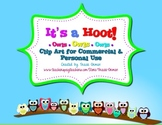 Owl Clipart It's a Hoot! Frames Backgrounds Borders for Commercial Use