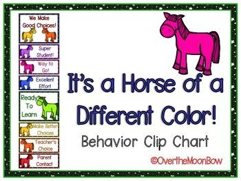 It's a Horse of a Different Color Behavior Clip Chart