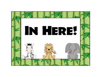 It's a JUNGLE in here door sign