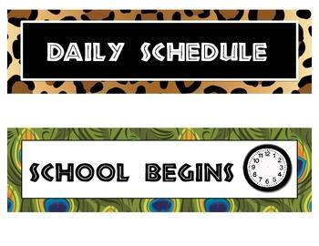 It's a Jungle Classroom Schedule Cards
