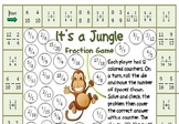 It's a Jungle Fraction Game for Third - Fifth Grade