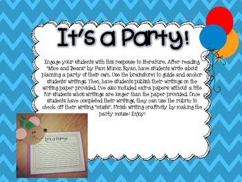 Expository Writing Craft for Mice and Beans