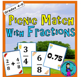 It's a Picnic Fraction Memory Match