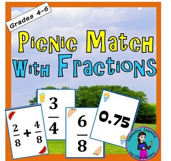 It's a Picnic Fraction Memory Match
