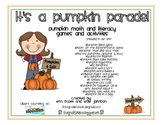 It's a Pumpkin Parade {pumpkin math & literacy activities}