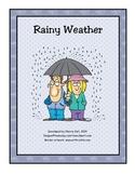 It's a Rainy Day! Activity Packet