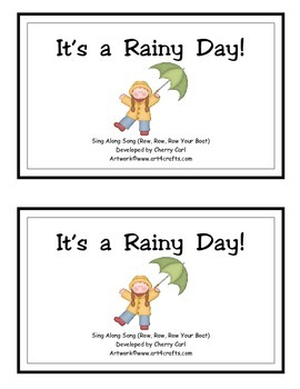It's a Rainy Day! Guided Reader