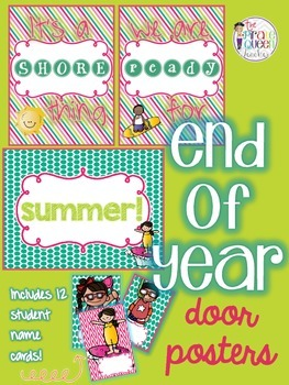 It's a Shore Thing! End of Year Summer Classroom Door Poster