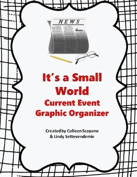 "FREE ""It's a Small World"" Current Event Report Graphic Organizer"