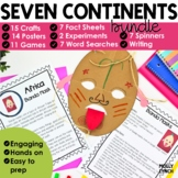 Continents 7 Continents Bundle: Reading, Writing, Maps & Activities