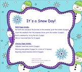 It's a Snow Day! Math and Literacy Smartboard fun