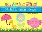 It's a Spring Fling- Kindergarten Literacy & Math Centers