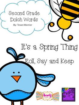 It's a Spring Thing 2nd Grade Dolch Word Game