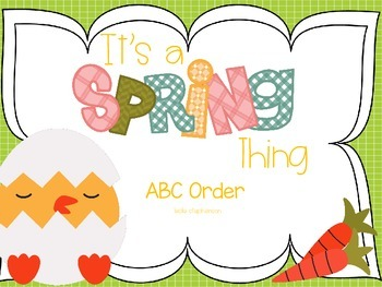 It's a Spring Thing - ABC Order