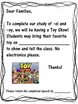 It's a Toy Show! --oi and -oy
