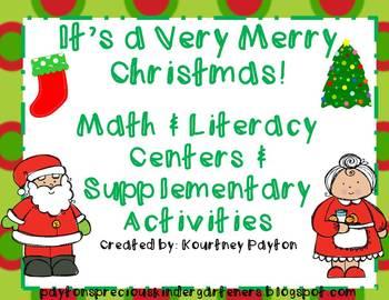 Christmas Math & Literacy Centers