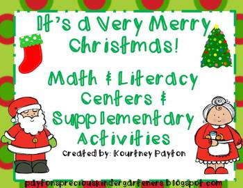 It's a Very Merry Christmas Math & Literacy Centers & Supp