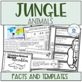 Jungle Animals Research Activities and Worksheets