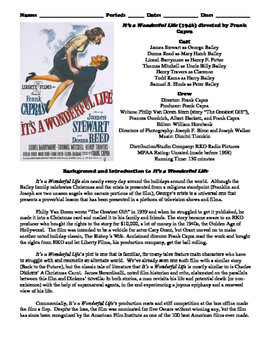 It's a Wonderful Life Film (1946) Study Guide Movie Packet