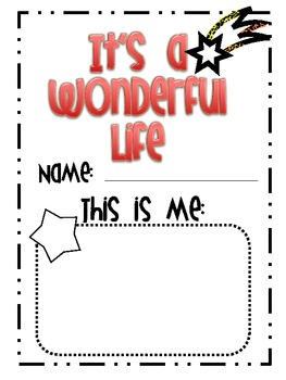 It's a Wonderful Life Writing and Poem Mini Unit Book