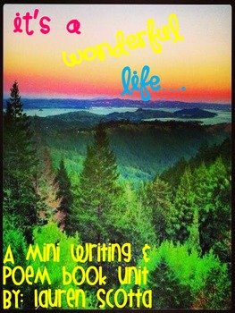 It's a Wonderful Life Writing and Poem Mini Unit Book