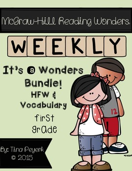Wonders Bundle! Vocabulary and HFW Practice Pages 1st Grade