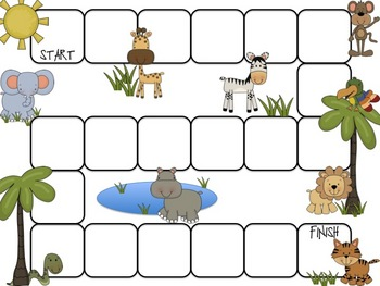 It's a Zoo Day! (math and literacy games)