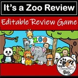 Distance Learning Its a Zoo Review editable powerpoint gam