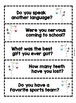 Welcome a New Student Packet (Printables, Letters, Questions)