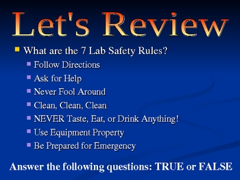 It's all about Lab Safety!