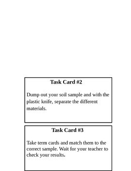 It's all in the dirt!  3rd Grade Soil Lab Task Cards