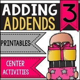 Adding 3 Addends Worksheets and Activities