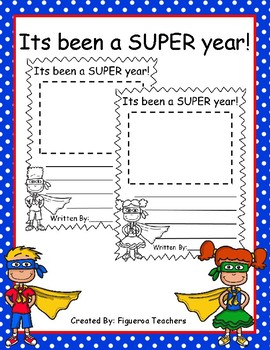 Its been a SUPER year writing (Super Hero Theme)