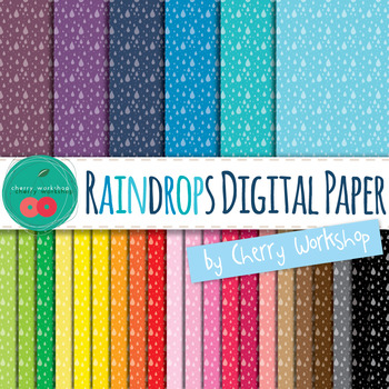 Rain Digital Papers {It's raining, It's pouring} - Weather